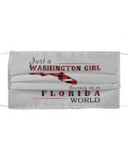 JUST A WASHINGTON GIRL IN A FLORIDA WORLD Cloth face mask thumbnail