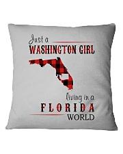 JUST A WASHINGTON GIRL IN A FLORIDA WORLD Square Pillowcase thumbnail
