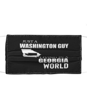 JUST A WASHINGTON GUY IN A GEORGIA WORLD Cloth face mask thumbnail