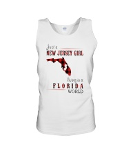 JUST A NEW JERSEY GIRL IN A FLORIDA WORLD Unisex Tank thumbnail