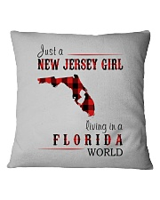 JUST A NEW JERSEY GIRL IN A FLORIDA WORLD Square Pillowcase thumbnail
