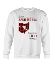 JUST A MARYLAND GIRL IN AN OHIO WORLD Crewneck Sweatshirt thumbnail