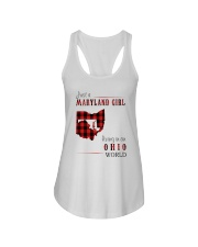 JUST A MARYLAND GIRL IN AN OHIO WORLD Ladies Flowy Tank thumbnail