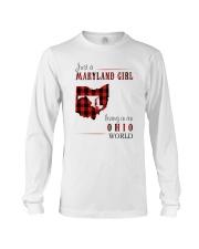 JUST A MARYLAND GIRL IN AN OHIO WORLD Long Sleeve Tee thumbnail