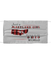 JUST A MARYLAND GIRL IN AN OHIO WORLD Cloth face mask thumbnail