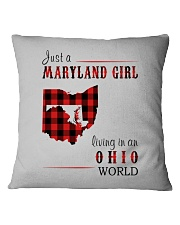JUST A MARYLAND GIRL IN AN OHIO WORLD Square Pillowcase thumbnail
