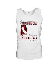 JUST A CALIFORNIA GIRL IN AN ALABAMA WORLD Unisex Tank thumbnail