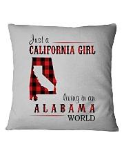 JUST A CALIFORNIA GIRL IN AN ALABAMA WORLD Square Pillowcase thumbnail