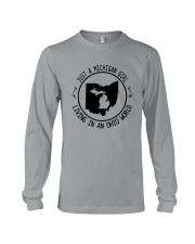 MICHIGAN GIRL LIVING IN OHIO WORLD Long Sleeve Tee thumbnail