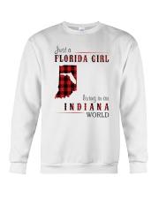 JUST A FLORIDA GIRL IN AN INDIANA WORLD Crewneck Sweatshirt thumbnail