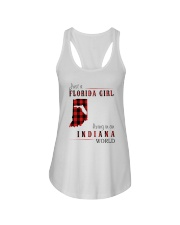 JUST A FLORIDA GIRL IN AN INDIANA WORLD Ladies Flowy Tank thumbnail