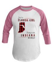 JUST A FLORIDA GIRL IN AN INDIANA WORLD Baseball Tee thumbnail