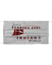 JUST A FLORIDA GIRL IN AN INDIANA WORLD Cloth face mask thumbnail