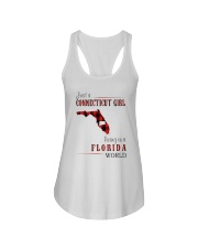 JUST A CONNECTICUT GIRL IN A FLORIDA WORLD Ladies Flowy Tank thumbnail