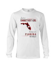 JUST A CONNECTICUT GIRL IN A FLORIDA WORLD Long Sleeve Tee thumbnail