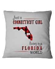 JUST A CONNECTICUT GIRL IN A FLORIDA WORLD Square Pillowcase thumbnail