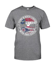 LIVING IN NORTH CAROLINA WITH OHIO ROOTS Classic T-Shirt thumbnail
