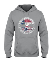 LIVING IN NORTH CAROLINA WITH OHIO ROOTS Hooded Sweatshirt thumbnail