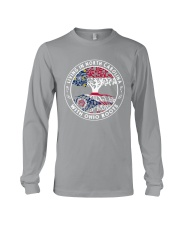 LIVING IN NORTH CAROLINA WITH OHIO ROOTS Long Sleeve Tee thumbnail