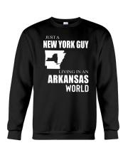 JUST A NEW YORK GUY IN AN ARKANSAS WORLD Crewneck Sweatshirt thumbnail