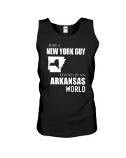JUST A NEW YORK GUY IN AN ARKANSAS WORLD Unisex Tank thumbnail