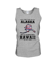 LIVE IN ALASKA BUT I'LL HAVE HAWAII IN MY DNA Unisex Tank thumbnail
