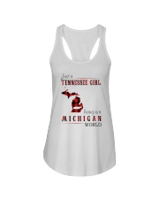 JUST A TENNESSEE GIRL IN A MICHIGAN WORLD Ladies Flowy Tank thumbnail