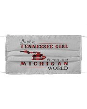 JUST A TENNESSEE GIRL IN A MICHIGAN WORLD Cloth face mask thumbnail