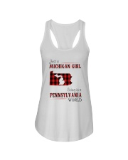 JUST A MICHIGAN GIRL IN A PENNSYLVANIA WORLD Ladies Flowy Tank thumbnail