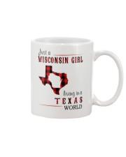 JUST A WISCONSIN GIRL IN A TEXAS WORLD Mug thumbnail