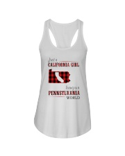 JUST A CALIFORNIA GIRL IN A PENNSYLVANIA WORLD Ladies Flowy Tank thumbnail