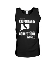 JUST A CALIFORNIA GUY IN A CONNECTICUT WORLD Unisex Tank thumbnail
