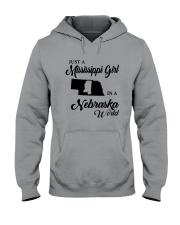 JUST A MISSISSIPPI GIRL IN A NEBRASKA WORLD Hooded Sweatshirt thumbnail