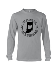 OHIO GIRL LIVING IN INDIANA WORLD Long Sleeve Tee thumbnail