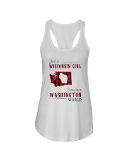 JUST A WISCONSIN GIRL IN A WASHINGTON WORLD Ladies Flowy Tank thumbnail