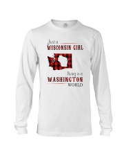 JUST A WISCONSIN GIRL IN A WASHINGTON WORLD Long Sleeve Tee thumbnail