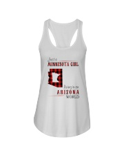 JUST A MINNESOTA GIRL IN AN ARIZONA WORLD Ladies Flowy Tank tile