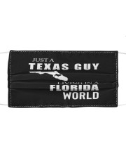 JUST A TEXAS GUY IN A FLORIDA WORLD Cloth face mask thumbnail