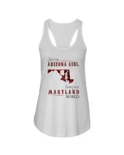 JUST AN ARIZONA GIRL IN A MARYLAND WORLD Ladies Flowy Tank thumbnail