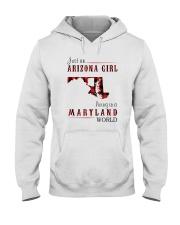 JUST AN ARIZONA GIRL IN A MARYLAND WORLD Hooded Sweatshirt front