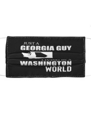 JUST A GEORGIA GUY IN A WASHINGTON WORLD Cloth face mask thumbnail