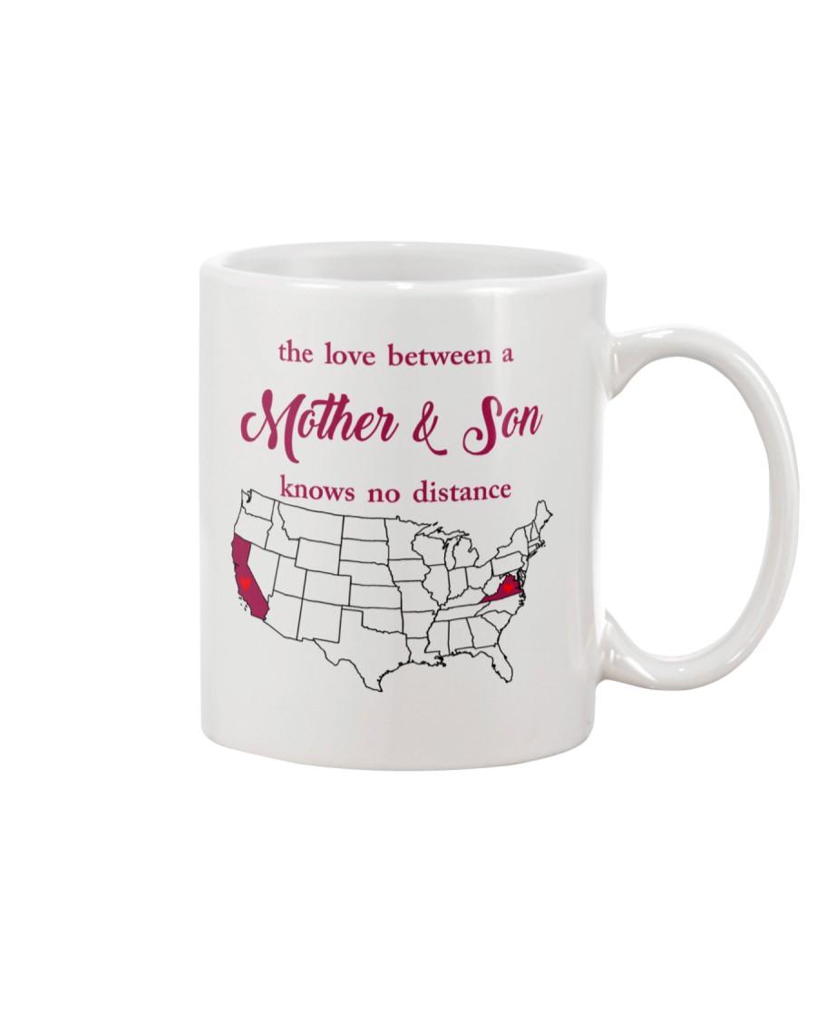 CALIFORNIA VIRGINIA THE LOVE MOTHER AND SON Mug