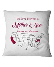 CALIFORNIA VIRGINIA THE LOVE MOTHER AND SON Square Pillowcase thumbnail