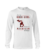 JUST AN OHIO GIRL IN A MICHIGAN WORLD Long Sleeve Tee thumbnail