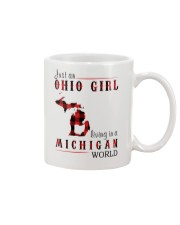 JUST AN OHIO GIRL IN A MICHIGAN WORLD Mug thumbnail