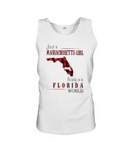 JUST A MASSACHUSETTS GIRL IN A FLORIDA WORLD Unisex Tank thumbnail