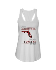JUST A MASSACHUSETTS GIRL IN A FLORIDA WORLD Ladies Flowy Tank thumbnail