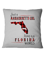 JUST A MASSACHUSETTS GIRL IN A FLORIDA WORLD Square Pillowcase thumbnail