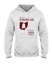 JUST AN ALABAMA GIRL IN AN OHIO WORLD Hooded Sweatshirt front