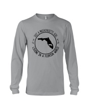 MASSACHUSETTS GIRL LIVING IN FLORIDA WORLD Long Sleeve Tee thumbnail